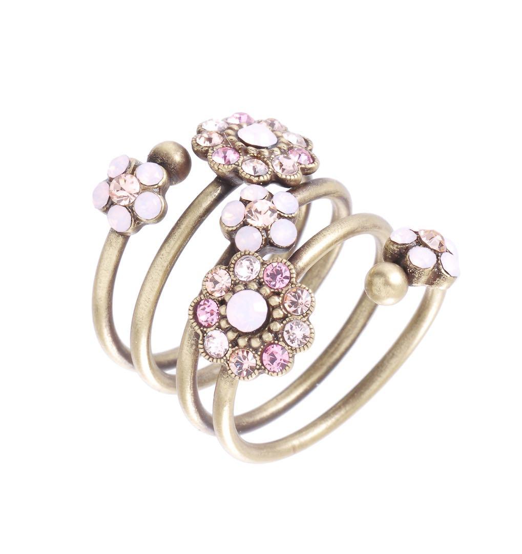 Michal Negrin Spiral Pink Ring