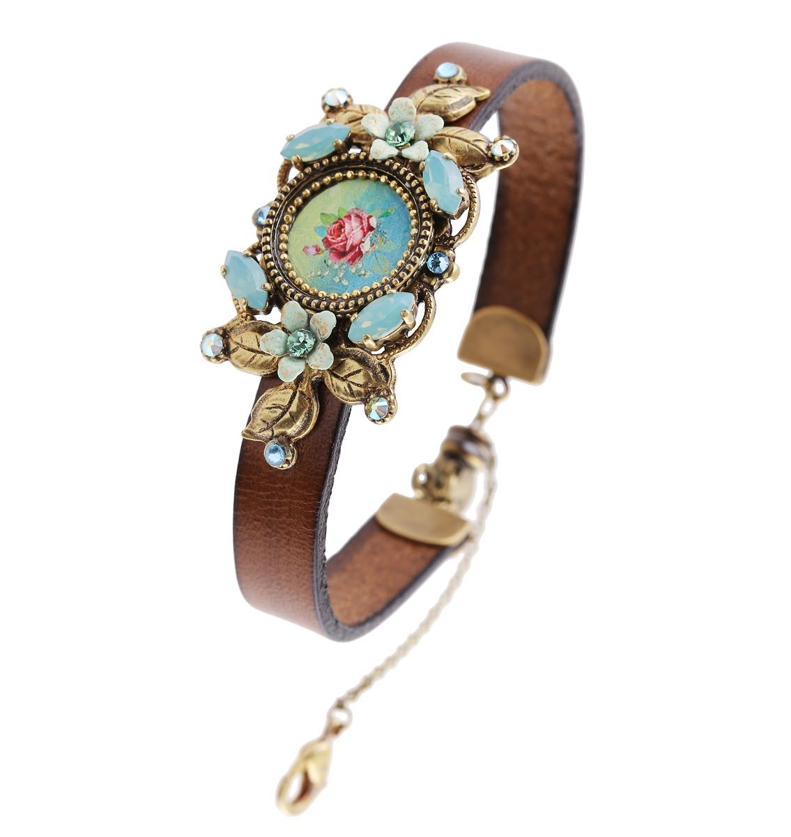 Michal Negrin Leather Vintage Bracelet