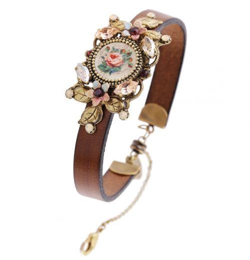 Michal Negrin Leather Vintage Bracelet