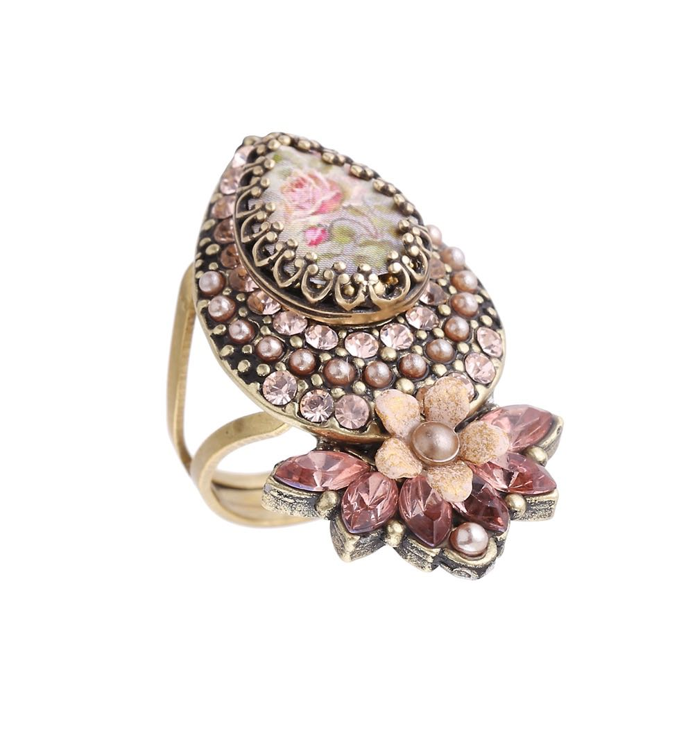 Michal Negrin Drop Ring Pink