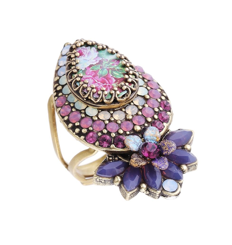 Michal Negrin Purple Drop Ring