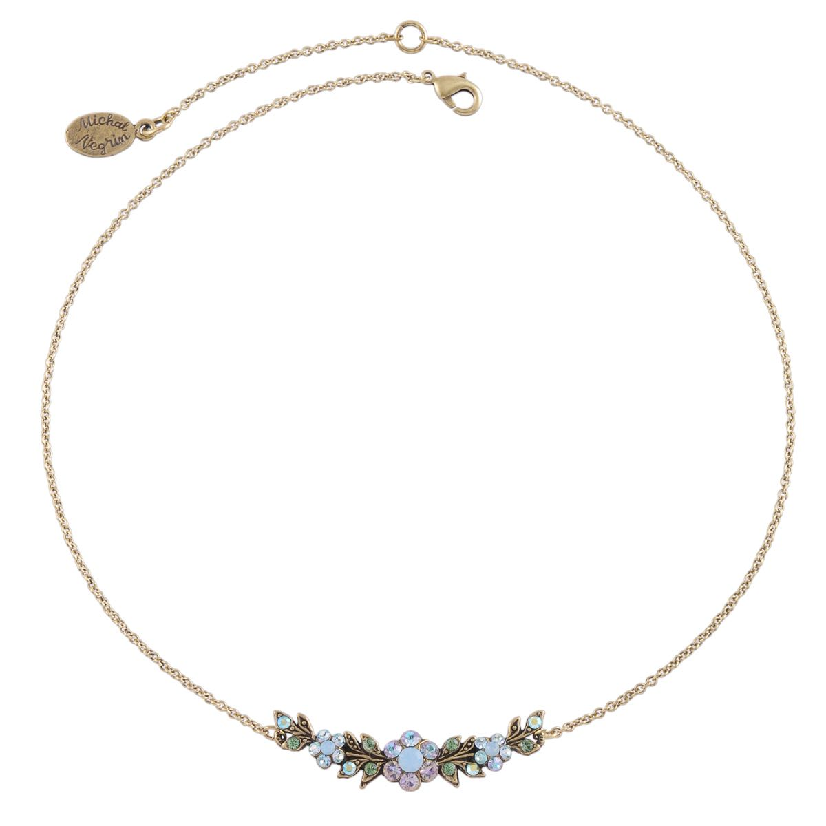 Michal negrin Floral Necklace blue