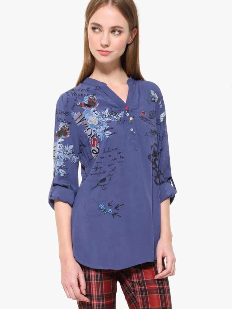 17WWBW19_5000 Desigual Blouse Lisa Navy Buy Online