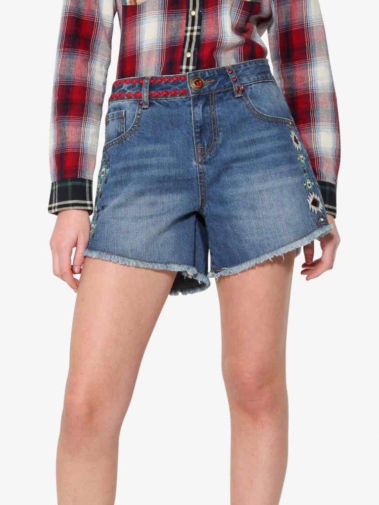 17WWDD13_5006 Desigual Denim Shorts Berta Buy Online