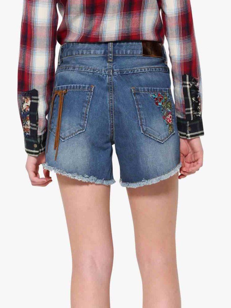 17WWDD13_5006 Desigual Denim Shorts Berta Canada