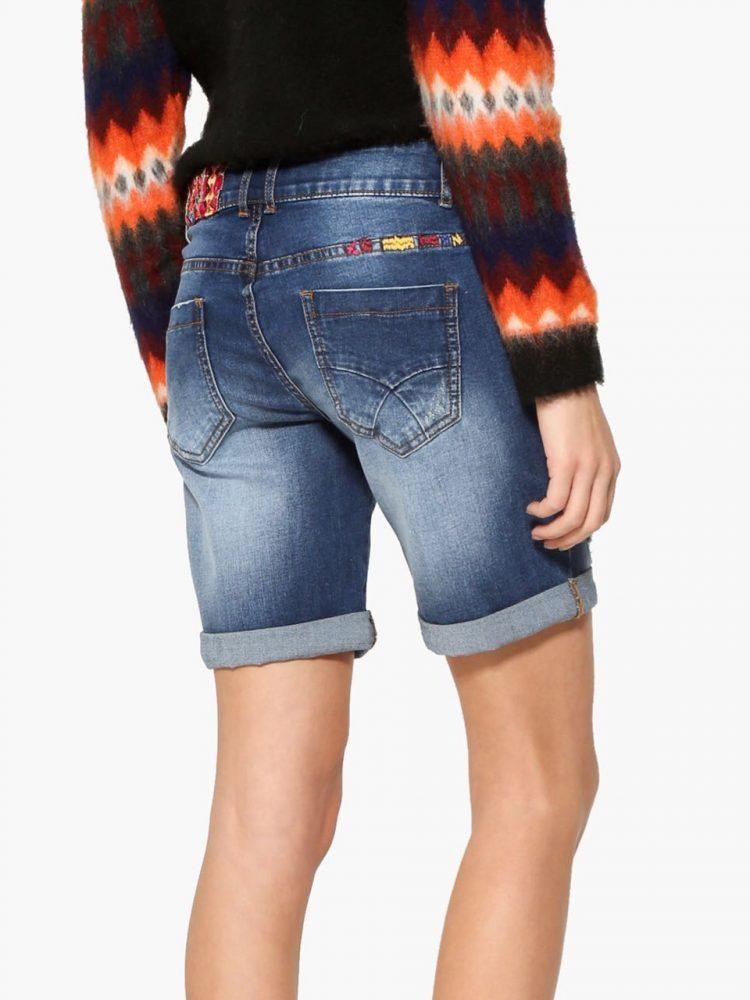 17WWDD22_5053 Desigual Denim Exotic Bermuda Shorts Canada