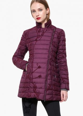 Desigual Burgundy Winter Coat