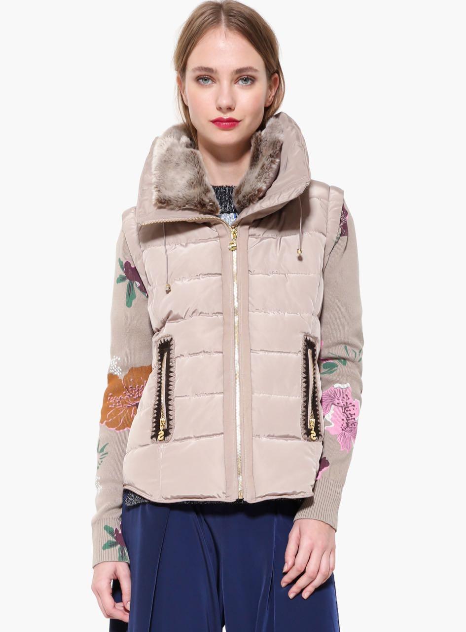17WWEWH2_1025 Desigual Jacket Salva Beige Buy Online