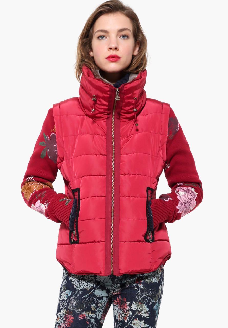 17WWEWH2_3007 Desigual Vest Salva Red Buy Online