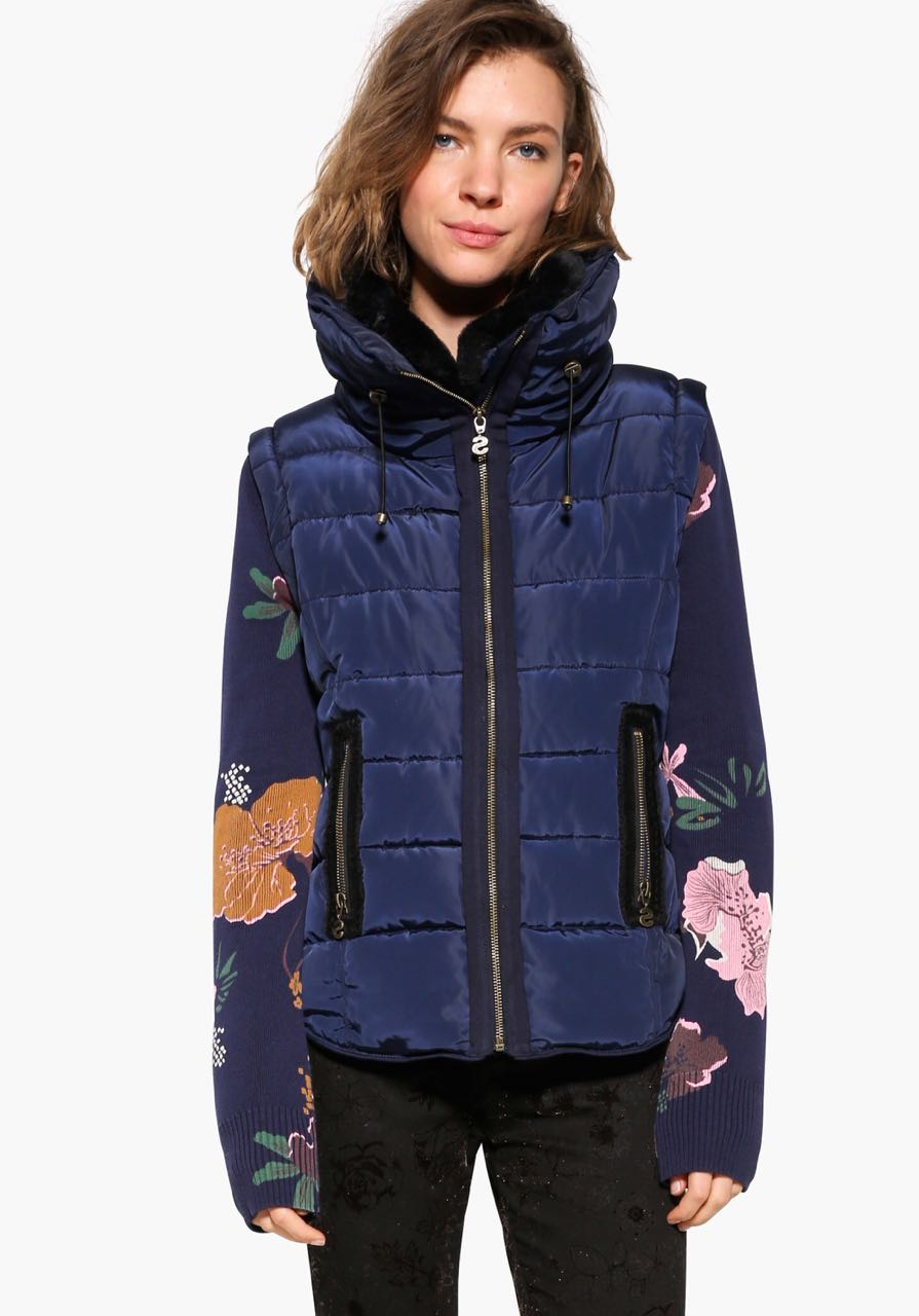 17WWEWH2_5001 Desigual Coat Salva Navy Buy Online
