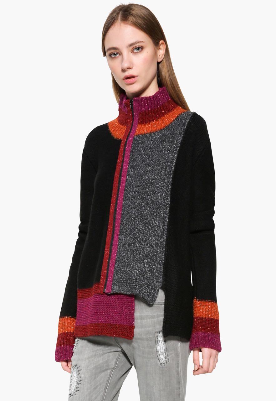 17WWJFE4_2000 Desigual Sweater Jacket Tatiana Buy Online