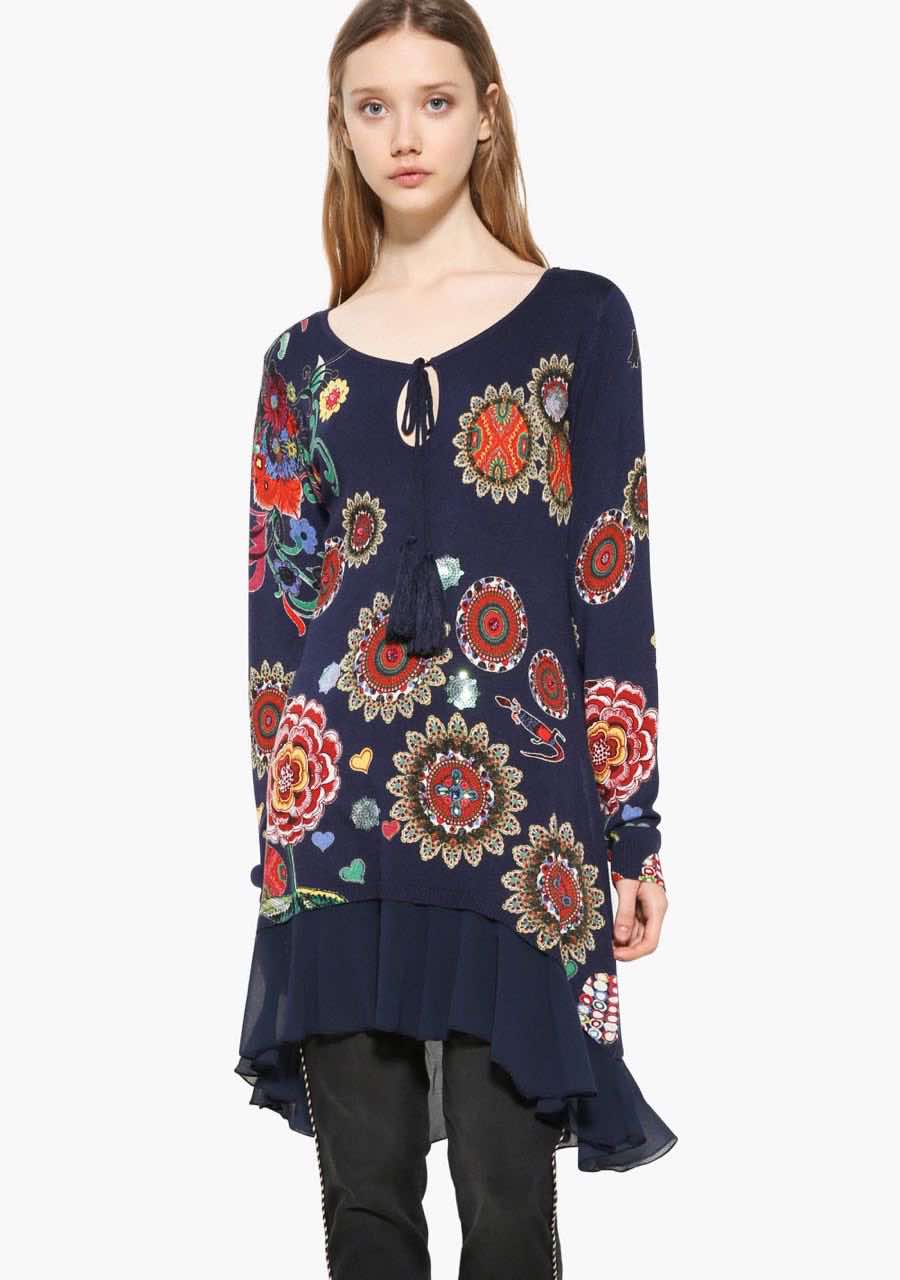 17WWJFF3_5001 Desigual Long Sweater Donovan Buy Online