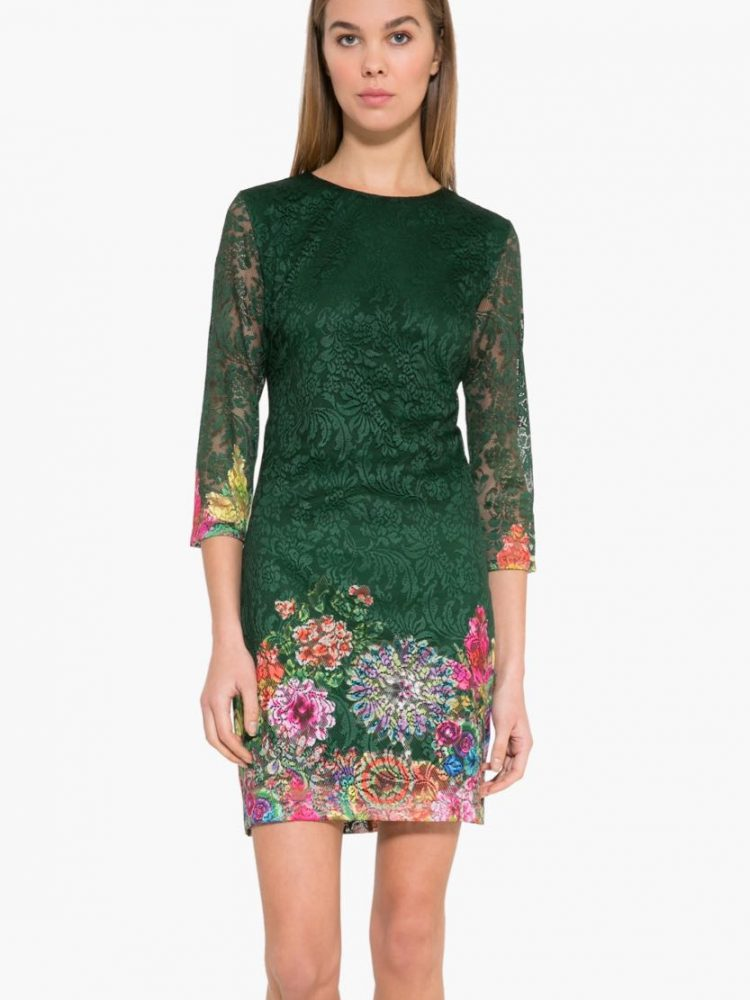 17WWVW04_4009 Desigual Dress Chipi (green) Buy Online