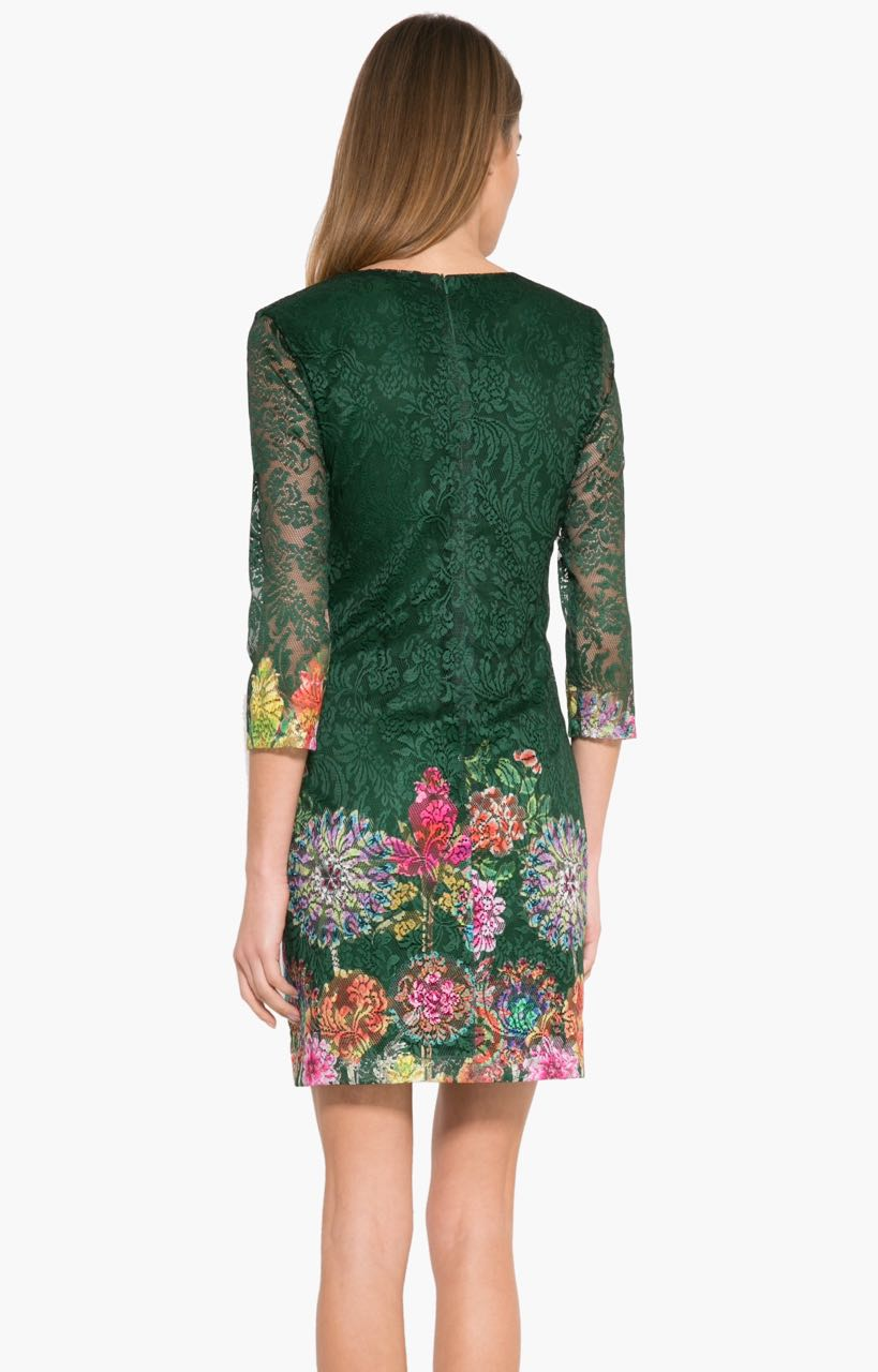17WWVW04_4009 Desigual Dress Chipi (green) Canada