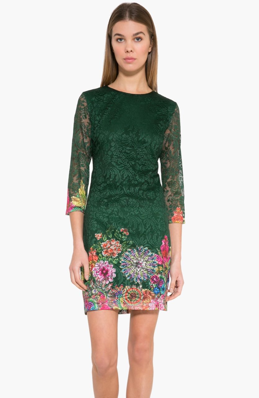 17WWVW04_4009 Desigual Dress Chipi (green) Buy Online