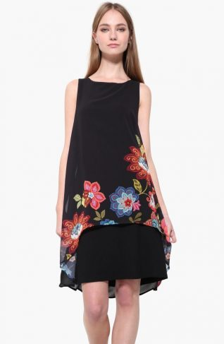 17WWVW90_2000 Desigual Dress Picos Caribou Buy Online