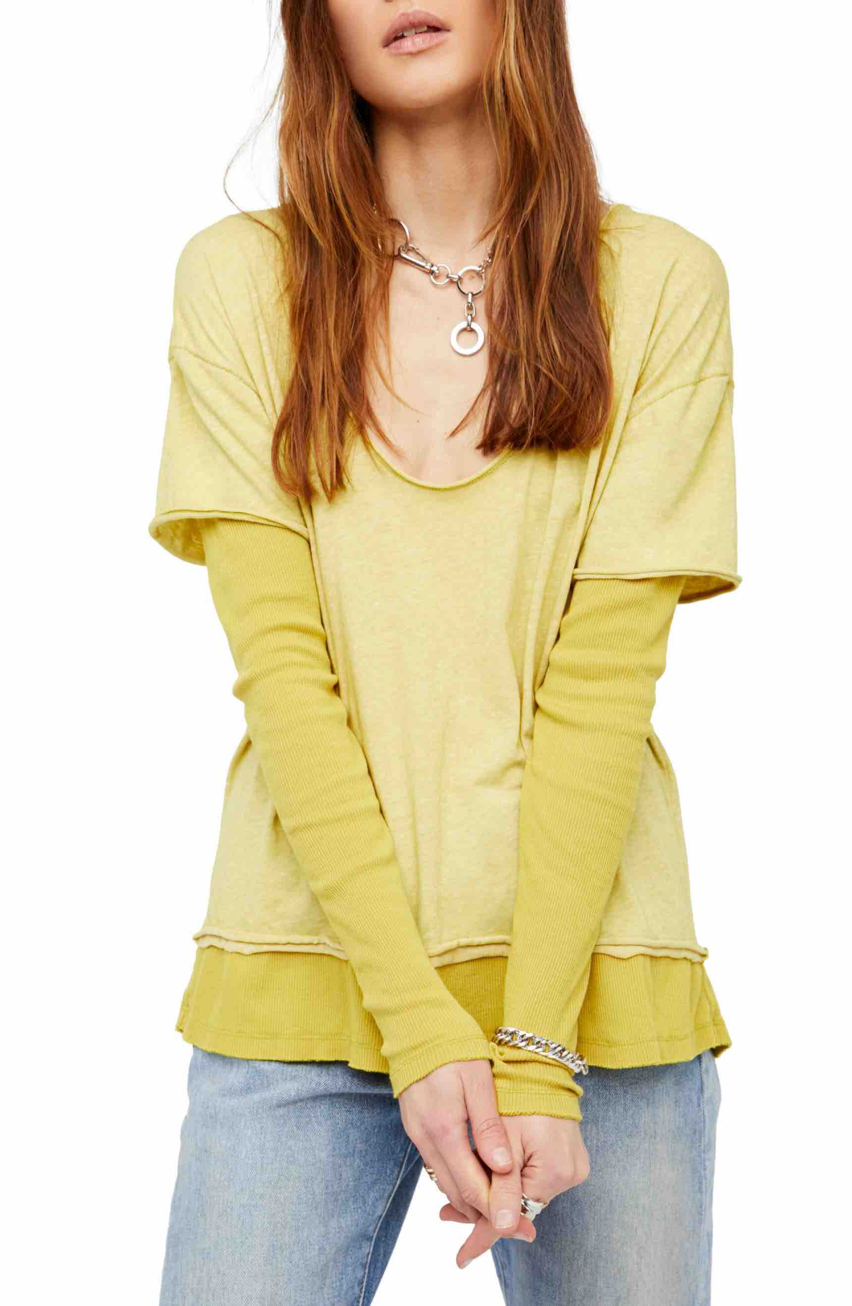 Free People T-Shirt Lime