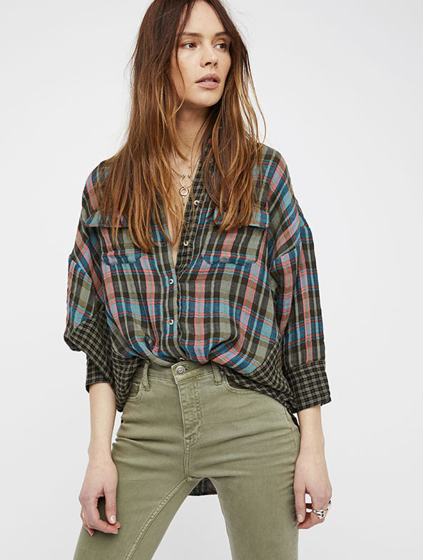 Free People Paid Shirt