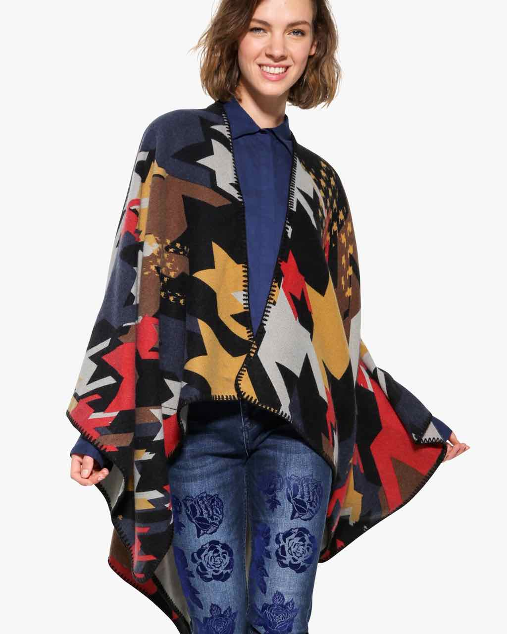 17WAWF13_4009 Desigual Poncho To the Office Buy Online