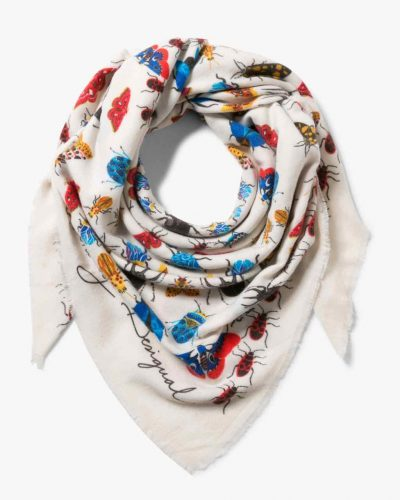 17WAWFG9_1003 Desigual Scarf Winter Floral Big (white) Buy Online