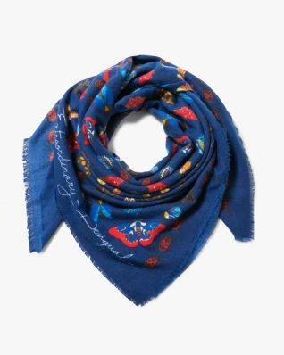 17WAWFG9_5001 Desigual Scarf Winter Floral Big (blue) Buy Online