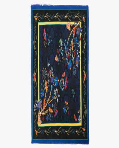 17WAWFH7_5001 Desigual Scarf Winter Floral Big (black blue) Canada
