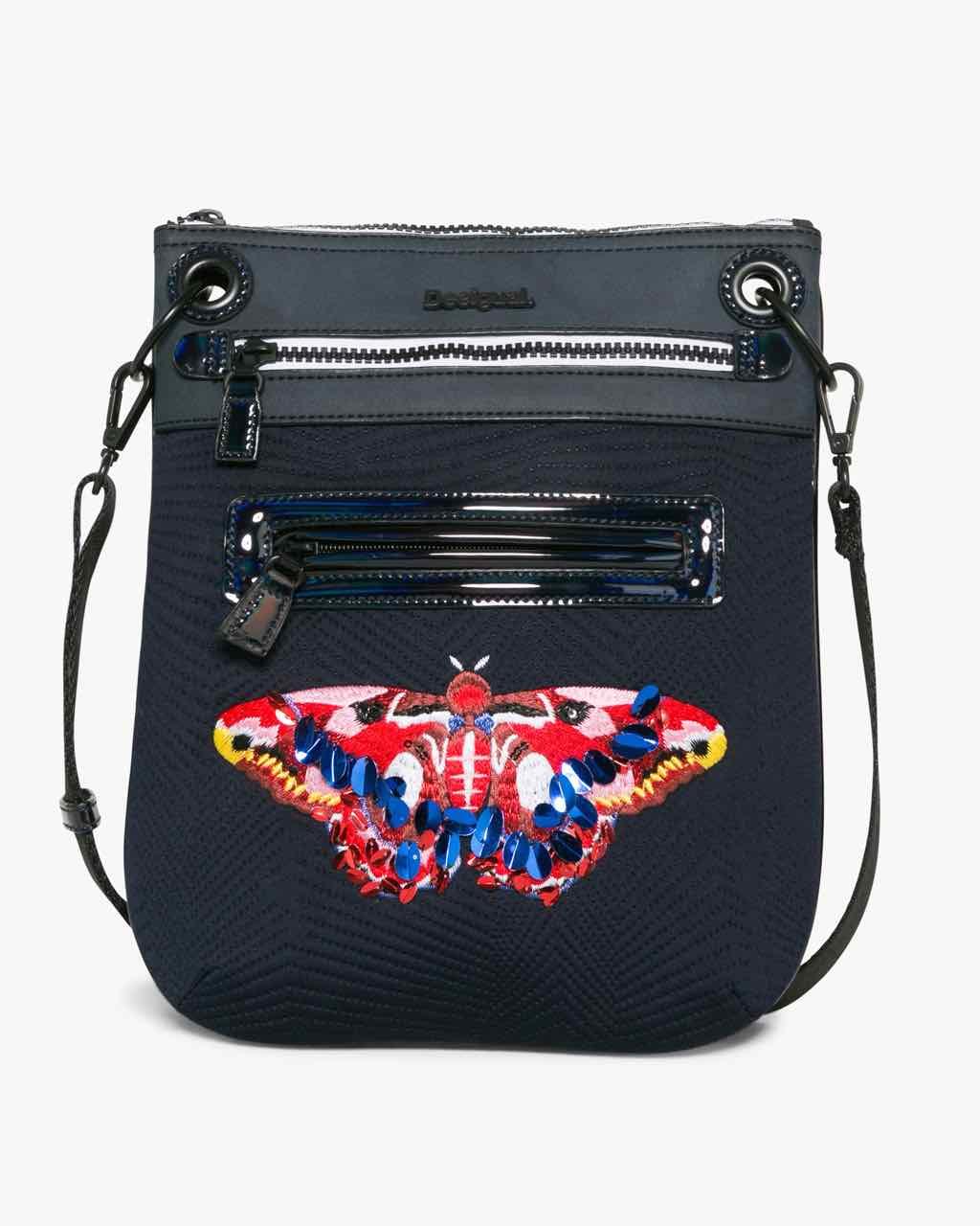 17WAXFTK_5098 Desigual Bag Bandolera Polilla Roja Buy Online