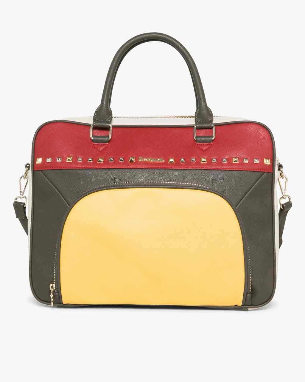 17WAXPA9_3000 Desigual Bag Yale Tricolor Carmin Buy Online