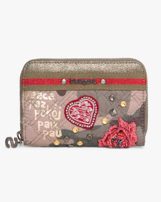 17WAYFBK_4087 Desigual Wallet Nuria Military Parches Buy Online