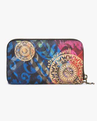 17WAYFGQ_3147 Desigual Wallet Mini Zip Transflores Canada