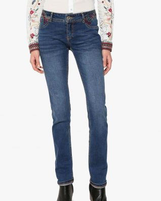Desigual Jeans Refriposas Embroidery