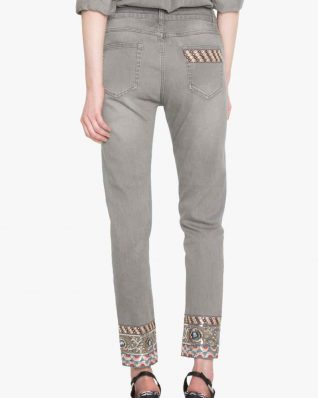 Desigual Jeans Chelsea Ankle Embroidery