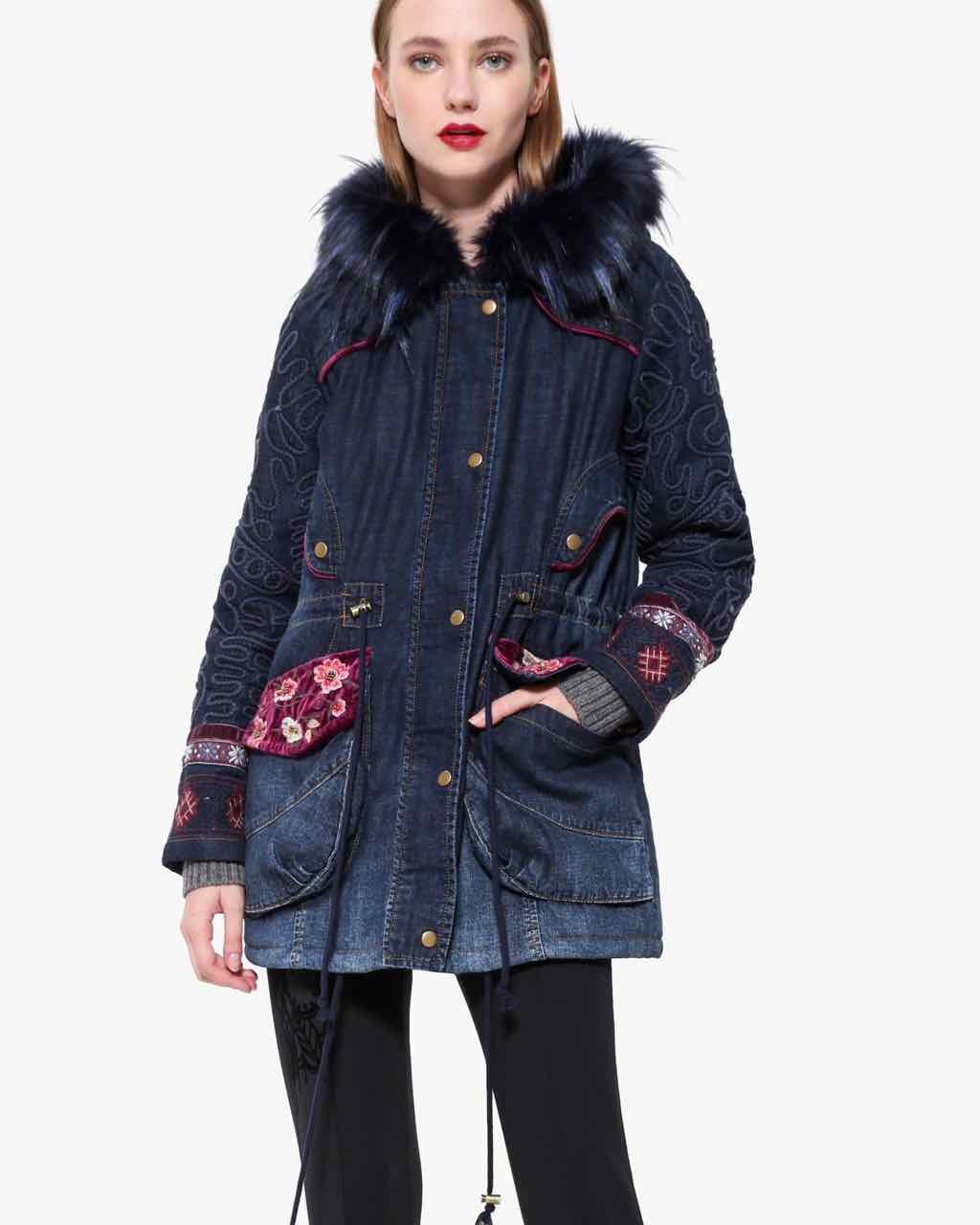 Desigual Denim Coat Natasha, Fall Winter 2017 2018