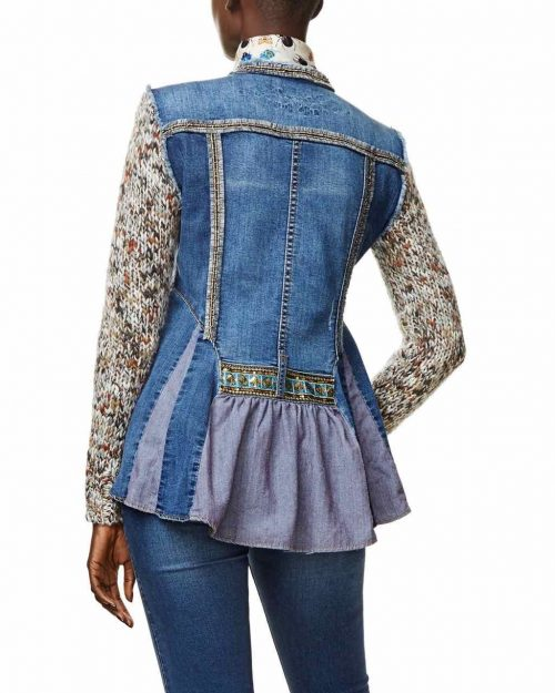 Desigual Jacket with Ruffles on the back