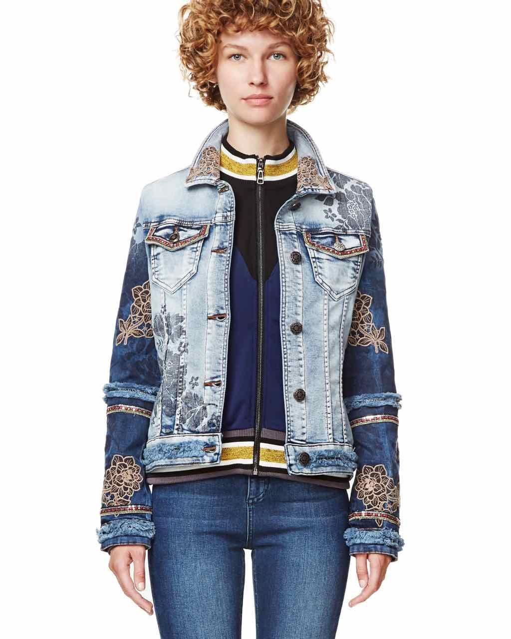 Desigual Blondi Blue Denim Jacket