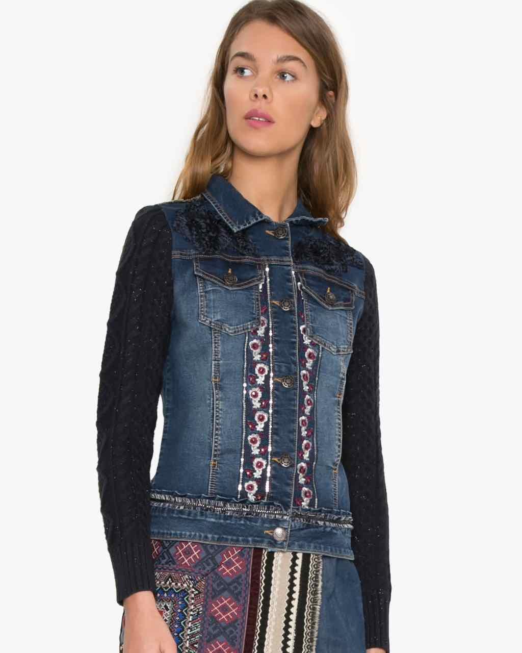 Desigual Exotic Ruffle Jacket, Buy online