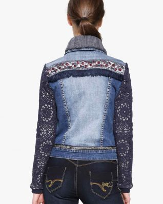Desigual Exotic Jacket Crochet Embroidery