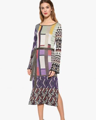 Desigual Purple Dress Celeste