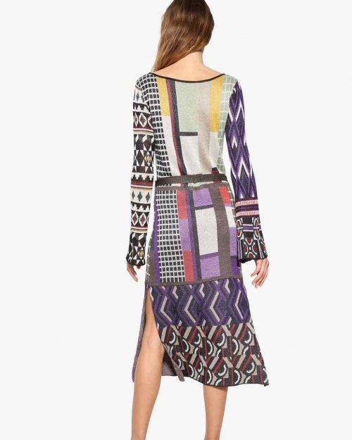 Desigual Knitted Midi Dress Fall 2017