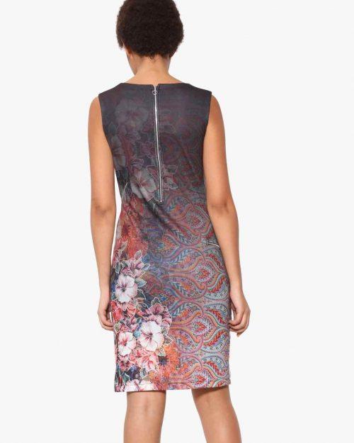 Desigual Pinafor Dress Floral Faded Design