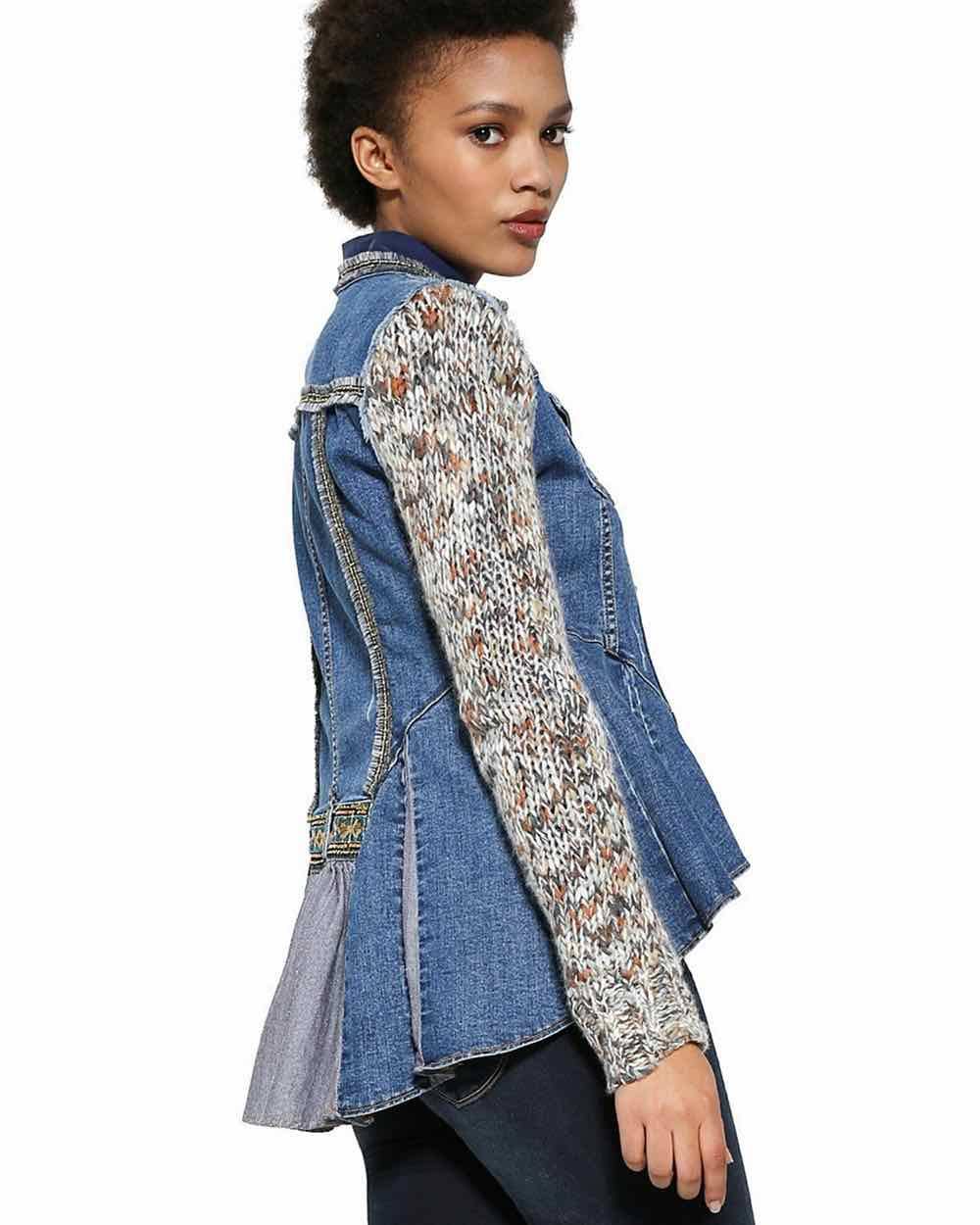 Desigual Denim High Low Jacket