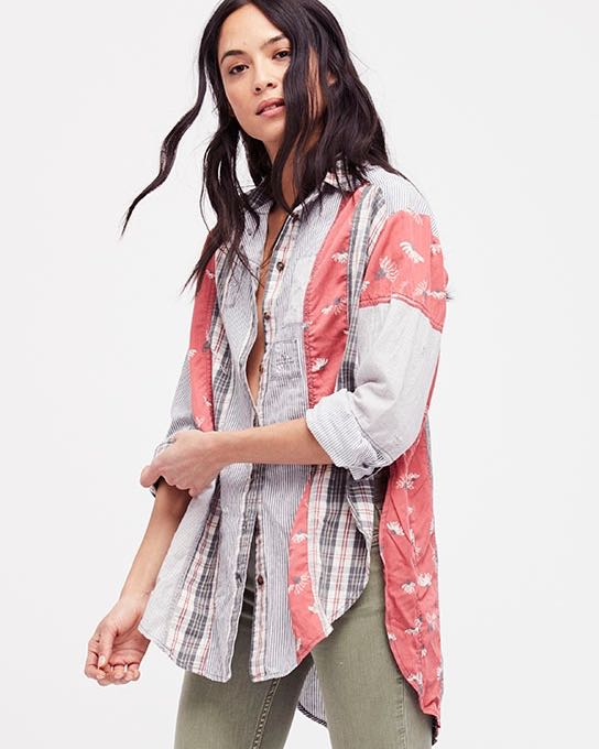 Free People Patchwork Shirt, Buy ONline