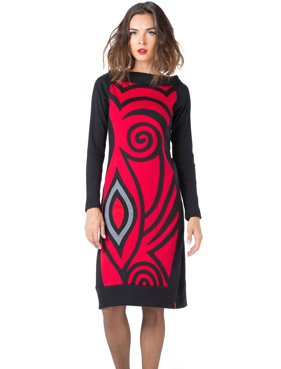 Pygmees Dress Psyche, Black Red