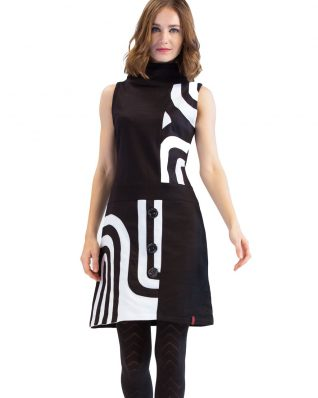 Pygmees Dress Chance, Black and White