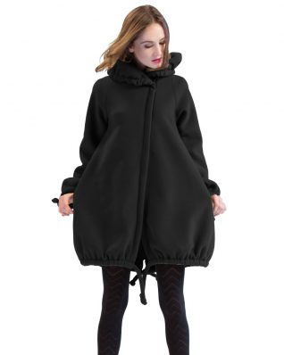 Pygmees Black Fleece Coat