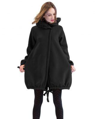 Pygmees Black Fleece Coat