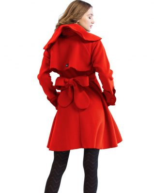 Pygmees Red Winter Coat with Belt