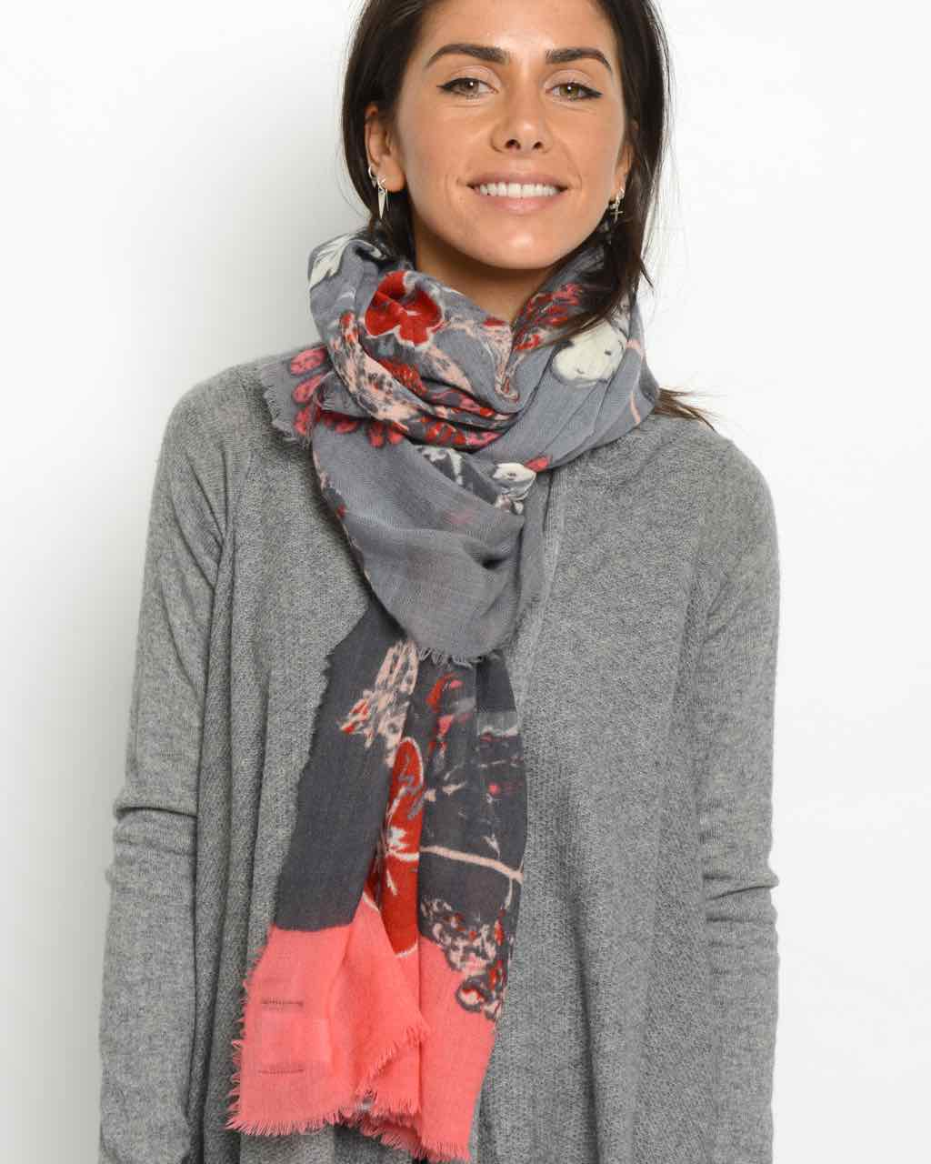 Moment by Moment Scarf Aleid Deep Reds Buy Online