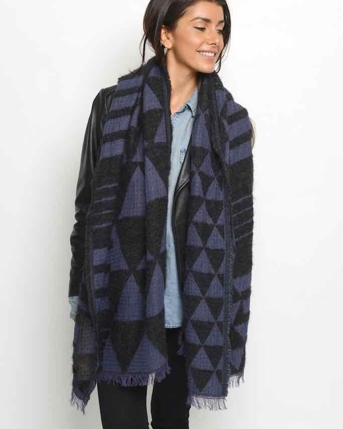 Moment by Moment Scarf Annemarie Deep Blues Buy Online