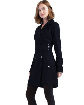 Turbowear Black Trench Coat